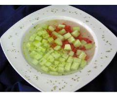 Ensalada fresca de pepino
