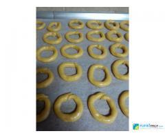 Rosquillas fritas con sabor a flan