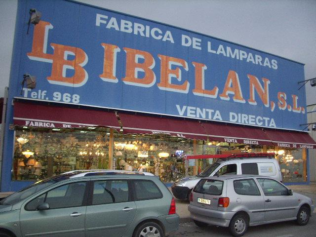 F brica de l mparas ibel n blanca ruralmur - Fabrica de lamparas en valencia ...